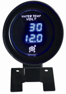 AUTO METER LCD WEATER TEMP & VOLTMETER TOGETHER